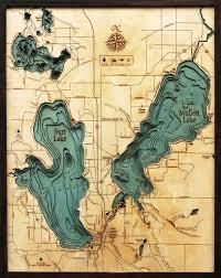 Map Lake Michigan by Burt U0026 Mullet Lake Michigan 3 D Nautical Wood Chart Large 24 5