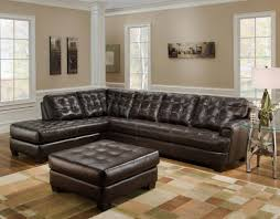 Leather Tufted Sofa by Tufted Sectional With Chaise Attractive Grey Microfiber Sectional