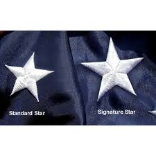 Us Flags Com Lone Star Banners And Flags Nyl Glo Signature U S Flag 2 1 2 Ft