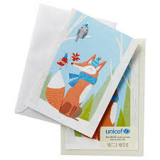 unicef fox and friends christmas cards box of 12 boxed cards