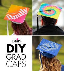 Ideas On How To Decorate Your Graduation Cap Diy Grad Caps With Tulip Ilovetocreate