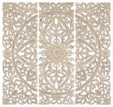 amazing white wood wall decor 48 x48 modern carved wood wall