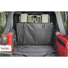 Rugged Ridge Tire Carrier Rugged Ridge 13260 03 C3 Cargo Cover 2 Door Without Subwoofer
