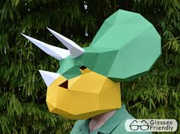 be a triceratops with this mask pattern great dinosaur