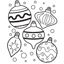 ornament coloring pages happy holidays