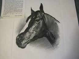 print of c w ernst drawing of venetian way 1960 kentucky derby