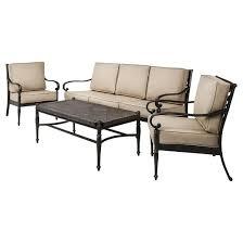Patio Conversation Sets Under 300 Kent 4 Piece Metal Patio Conversation Furniture Set Target