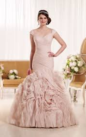 plus size blush wedding dresses blush mermaid wedding gown for fashionable brides weddceremony