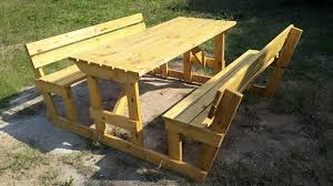 Diy Wood Picnic Table by Pallet Picnic Table And Benches 99 Pallets