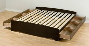 storage bed without headboard king platform bed frame with six