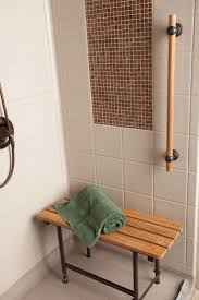 Teak Folding Shower Bench Folding Shower Seat With Legs From Grab Bars Canada