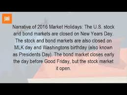 is the stock market open tomorrow