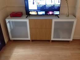 Ikea Besta Storage Combination With Doors And Drawers Ikea Besta Customised Oak Tv Stand Storage Combination With