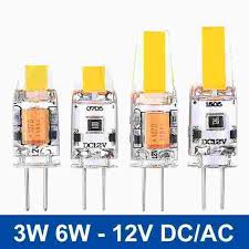 mini g4 led l dc ac 12v led g4 light 3w 6w cob led bulb