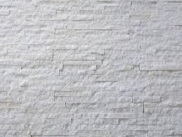 Quartzite Slate Subway Backsplash Tile by Continental Tiles Split Face White Quartzite White Slate Wall