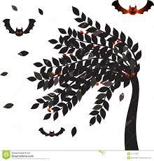 halloween background leaves black leaves halloween tree bats vector tree vectors stock