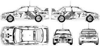 mitsubishi lancer evo 3 car blueprints mitsubishi lancer evo iii wrc blueprints vector
