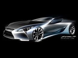 lexus hybrid sport 2012 lexus lf lc hybrid sport coupe concept design sketch 2