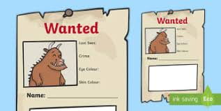 the gruffalo writing frames and worksheets early page 1