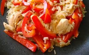 cuisine riz recette riz pilaf au poulet et au poivron économique et simple