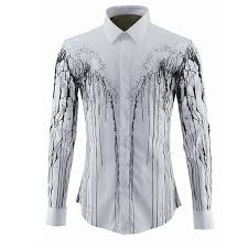 new mens dress shirts casual long sleeve slim fit luxury branch