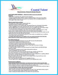Sample Of General Resume by Learning To Write An Audition Resume