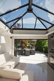 glass roof house image detail for to flood into your new flat roof extension with