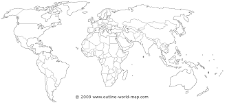 Black World Map by Political World Maps Outline World Map Images