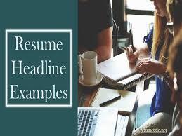 Headline Resume Examples by Resume Headline Examples Resume Headline Examples Berathen Com