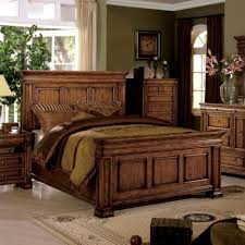 Bedroom Furniture Cambridge Cambridge Eastern King Size Bed Oak Finish Solid Wood Panel Bed