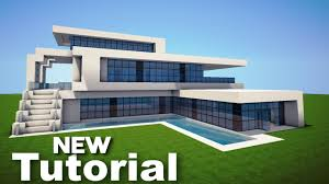 Modern House Furniture Minecraft Minecraft How To Build A Realistic Modern House Mansion