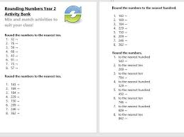 rounding numbers year 2 activity bank differentiated by