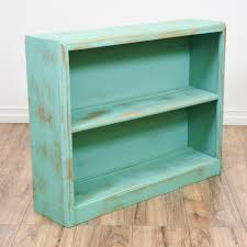 mint blue shabby chic low bookcase toys shabby chic bookcase