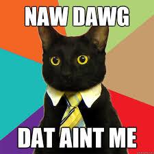 Meme Dawg - naw dawg dat aint me cat meme cat planet cat planet