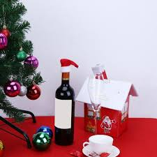 wine christmas gifts christmas gift decoration wine bottle cover christmas santa hat