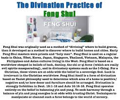 the divination practice of feng shui u2013 deliverance from demons in