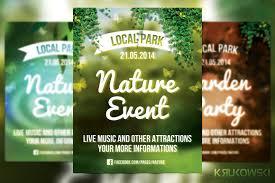 nature event flyer flyer templates creative market