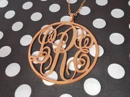 Three Initial Monogram Necklace 69 Best Customized Necklace Images On Pinterest Monogram