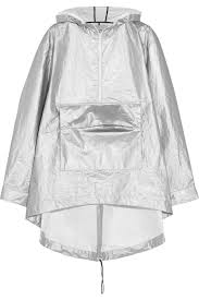cycling shower jacket t by alexander wang oversized hooded metallic shell rain jacket