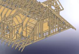 Roof Framing Pictures by 48x28 Garage With Attic And Six Dormers