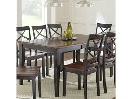 rani two tone brown black dining table morris home dining room