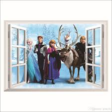 deer prince frozen 3d wall stickers olaf decorative
