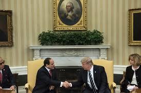 bureau president americain loue le travail fantastique du président sissi en egypte