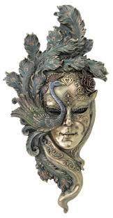 wall masks large peacock venetian style carnival mask wall