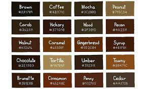 light brown paint color chart shades of brown paint large image for chocolate two colours of paint