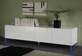 Buffet bahut design 4 portes blanc laqué Excellence II Bahut