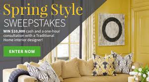 traditional home magazine spring style sweepstakes