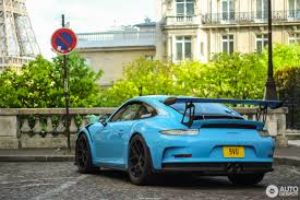 miami blue porsche gt3 rs porsche 991 gt3 rs 2 april 2017 autogespot