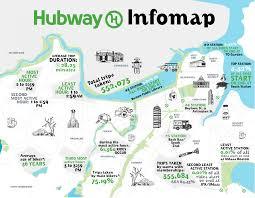 Boston Public Transportation Map by Hubway Carte Jpg