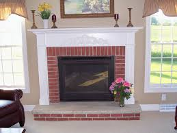 brick fireplace white mantle part 50 white mantel and trim